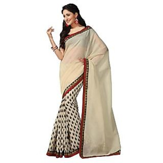 Subhash Printed saree with matching blouse.