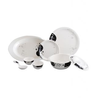 Servewell 25 Pcs Dinner Set - Round Dinner - Night Queen