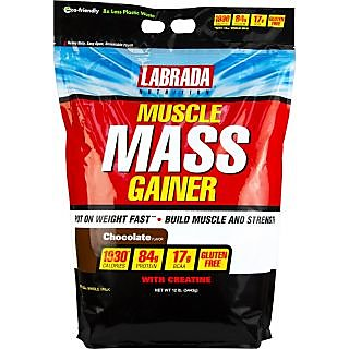 Labrada Nutrition Muscle Mass Gainer - 12 Lbs (Chocolate)