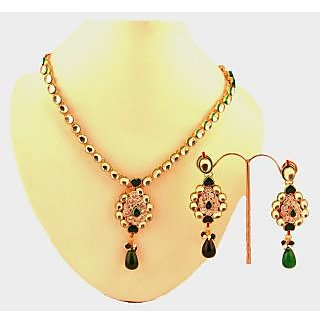 Porcupine Kundan Pendant Set With Matching EarringsPN-JW-PS-350