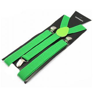 Kelly Green Y-Back Suspender