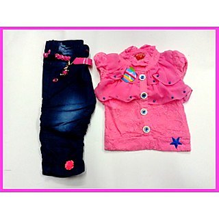 e18a1a01510a Kids Girls Top and Jeans Capree CB-1931(2.5-7 Years)