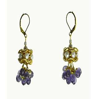 Rasaam Lollypop RE06PU Purple ColoredBeads Drops For Women