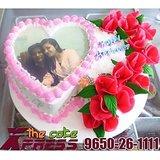 Double Heart Shape Designer Cake-Delhi NCR