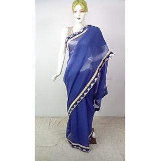 shifoon purple saree