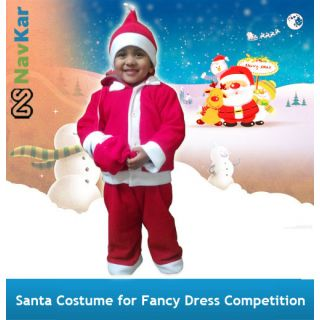 Santa Claus Costume For Kids  Fancy Dress Costume For Kids