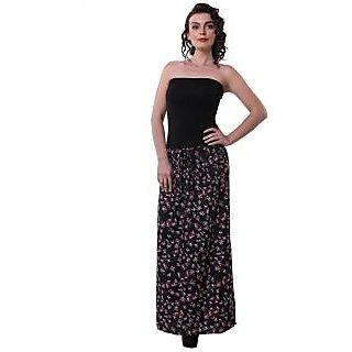 Purys Printed Black Skirt