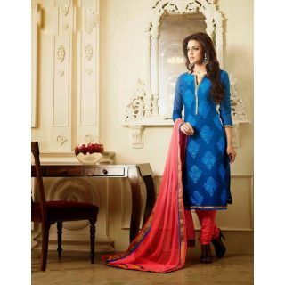 IndiWeaves Multicolor Polycotton Lace Salwar Suit Dress Material