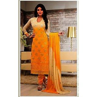 f61cc7ecaff9 IndiWeaves Multicolor Crepe Lace Salwar Suit Dress Material (Unstitched)