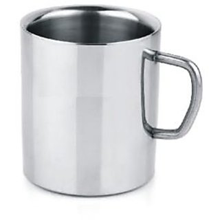 Double Wall Steel Mug Steel Set Of 2