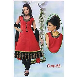 Styles Anarkali Kurti Red And Black