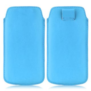 Wow Pu Leather Pull Tab Protective Pouch For HTC T327W Desire U (Blue) 4PTLblueHTCT327W