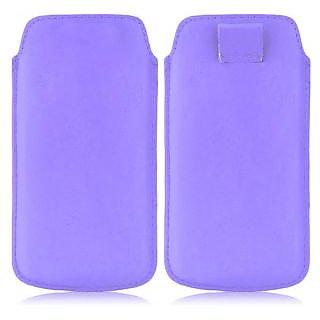 Wow Pu Leather Pull Tab Protective Pouch For Sony Xperia Sola (Purple) 4PTLPurpleXPSola