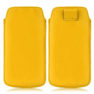 Wow Pu Leather Pull Tab Protective Pouch For Karbonn Titanium S1 (Yellow) 4PTyellowKTS1