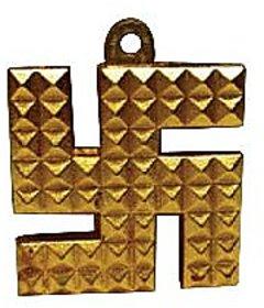 Vastu Swastik/swastik pyramid/ashtadhatu swastik hanging for protection-New Pyramid Swastik Hanging for Protection. Swastik with Pyramid Sign is very Lucy Charm as Swastik is a Symbol Of Ganesha and Pyramids are used for Energizing According to Feng Shui