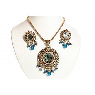 Porcupine Thewa Pendant Set With Matching Earrings PN-JW-PS-150