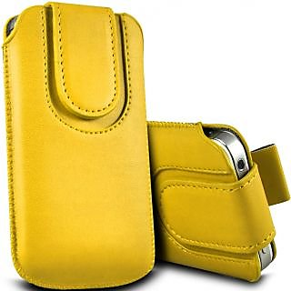 Wow Pu Leather Magnetic Pull Tab Protective Pouch For Lenovo Ideaphone S920 5.5MPYellowLIS920