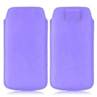 Wow Pu Leather Pull Tab Protective Pouch For LG G Pro E988 (Purple) 5.5PTLPurpleLGE988