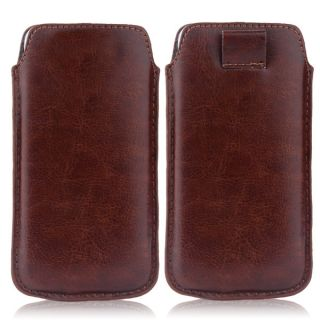 Wow Pu Leather Pull Tab Protective Pouch For Samsung Galaxy Grand Neo GT-I9060 (Brown) 5PTBrownSGNGT19060