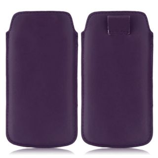 Wow Pu Leather Pull Tab Protective Pouch For HTC Desire 700 (Purple) 5PTDPurpleHD700