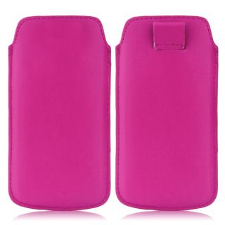 Wow Pu Leather Pull Tab Protective Pouch For Sony Xperia ZL (Pink) 5PTHPINKZL