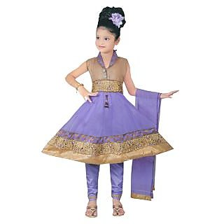 Sarrah Purple Salwar Suits For Girls (Size: 11-12 yrs)