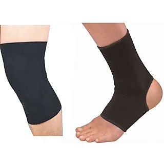 Pair Of Ankle Support with Knee Support