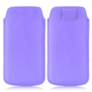 Wow Pu Leather Pull Tab Protective Pouch For Karbonn Titanium S5 Plus (Purple) 5PTLPurpleKTS5