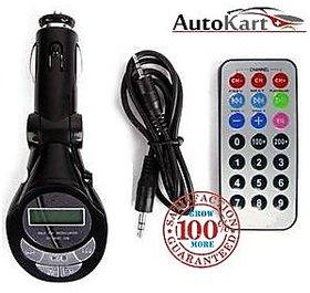 Autosun Car Mp3 Fm Modulator Transmitter With Usb Memory Card Slots Aux Cab