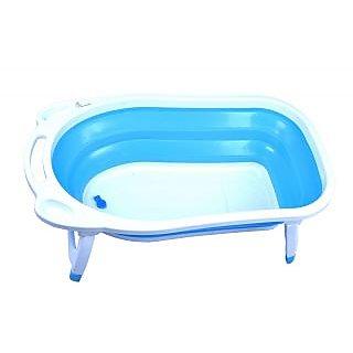 Baby Bath Tub-Baby Bather -Bubble Double -The Innovative folding Bath Tub (blue)
