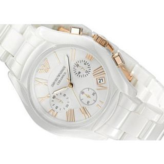 a0ba63ce Emporio Armani Men's Ceramic White Chronograph Dial Watch
