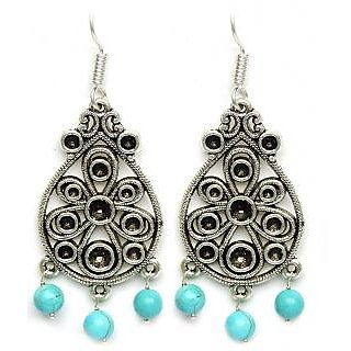 aabf7cf9941 Designer Jhumka Dangle Style German Silver Earrings In India - Shopclues  Online
