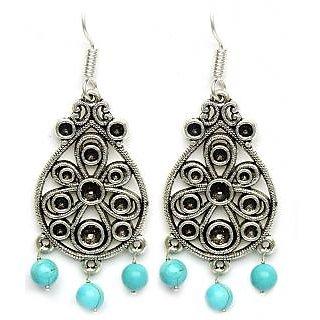 aabf7cf9941 Designer Jhumka Dangle Style German Silver Earrings In India - Shopclues  Online