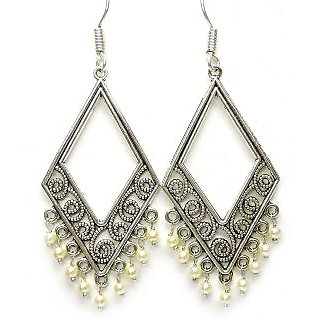 6f963eb3e26 Online Designer Jhumka Dangle Style German Silver Earrings Prices - Shopclues  India