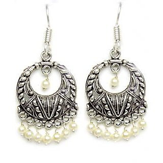 64de62433ed Designer Jhumka Dangle Style German Silver Earrings at Best Prices - Shopclues  Online Shopping Store