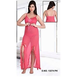 Hot Bed Set 2pc Nighty   Panty Sexy Sleep Wear Night   Thong Womens Pink  13274 at Best Prices - Shopclues Online Shopping Store e4b5a5867