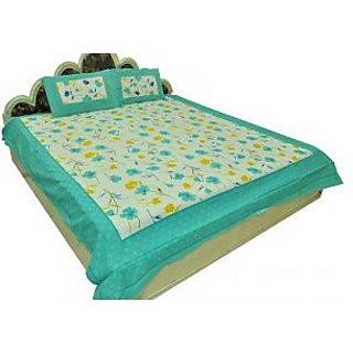 Designer Exclusive 3 Pcs. Floral Print King Size Double Bed Sheet Sra2335