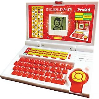 Prasid English Learner Kids Laptop 20 Activities (Red)