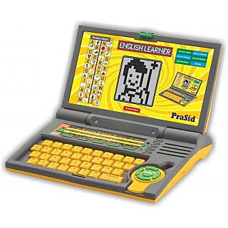 Prasid English Learner Kids Laptop 20 Activities (Yellow)