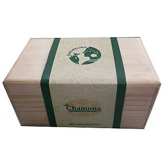 Green Tea - Chamong Organic DARJEELING GREEN TEA 100 GRAM IN WOODEN BOX