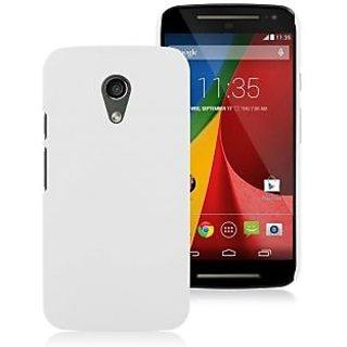 WOW Matte Rubberized Finish Hard Case for Motorola Moto G (2nd Gen) - White MMTG2WHITE
