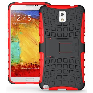 WOW Rugged Grenade Stand Case for Samsung Galaxy Note 3 - Red HAN3RED