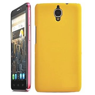 Wow Matte Rubberized Finish Hard Case For Alcatel One Touch Idol X+ - Yellow MTAidolX+Yellow
