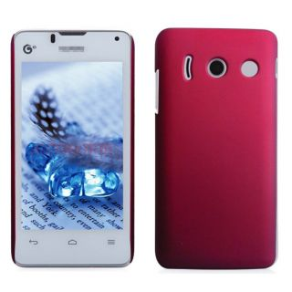 Wow Matte Rubberized Finish Hard Case For Huawei Ascend Y300 -Red MTHAY300Red