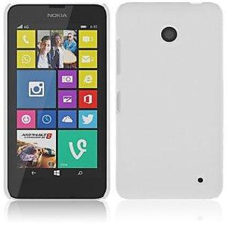 Wow Matte Rubberized Finish Hard Case For Nokia Lumia 630-White MTL630White