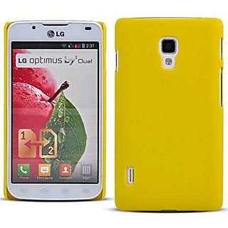 Wow Matte Rubberized Finish Hard Case For Lg Optimus L7 Ii P715 -Yellow MTLGOL7IIP715Yellow