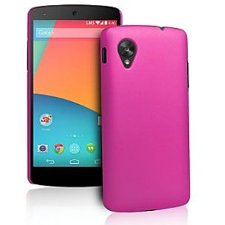 Wow Matte Rubberized Finish Hard Case For Lg Google Nexus 5- Dark Pink MTNex5DPink