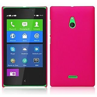 Wow Matte Rubberized Finish Hard Case For Nokia X2-Dual Sim - Dark Pink MTNX2DPink