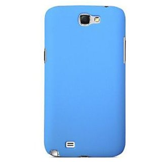 Wow Matte Rubberized Finish Hard Case For Samsung Galaxy Note 2 -light Blue MTSN2LBlue
