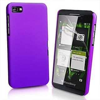 Wow Matte Rubberized Finish Hard Case For Black Berry Z10 - Dark Purple MTZ10Dpurple